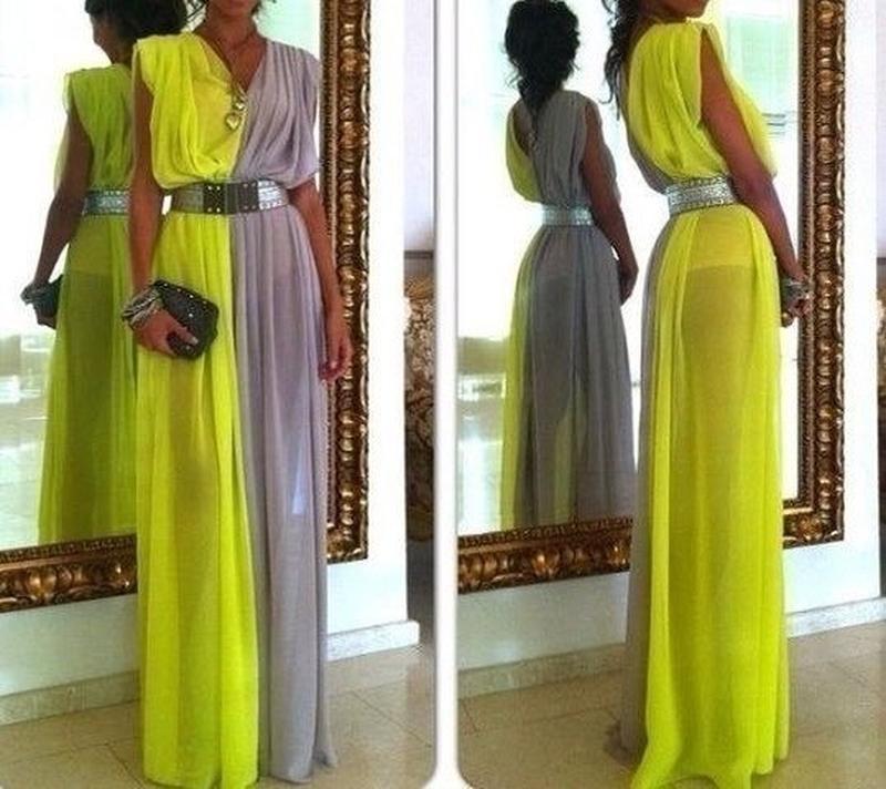 Легкое длинное платье своими руками