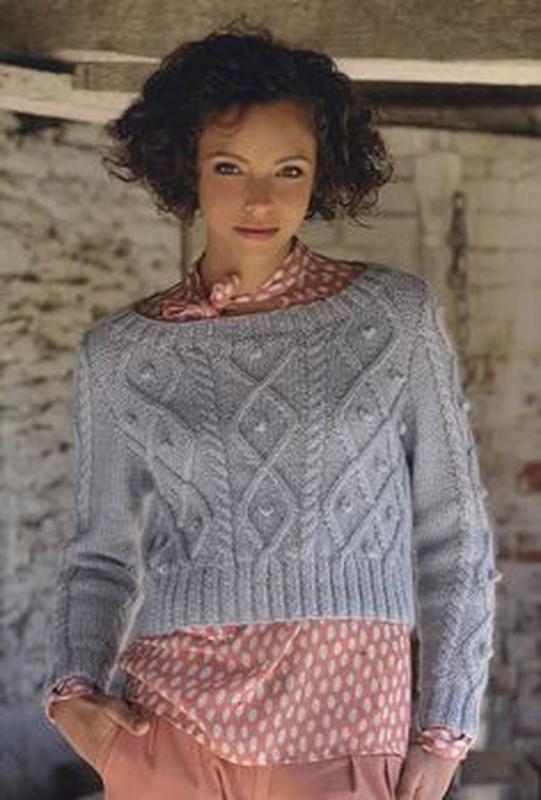 Вязание спицами укороченный свитер
