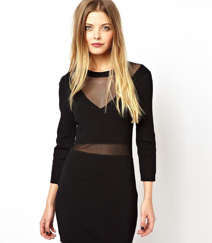 Фото платье с вставками из сетки