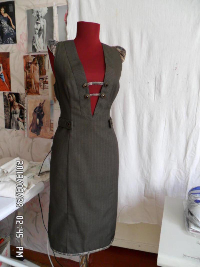 Как из серого платья сделать 202