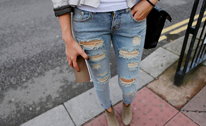Модные рваные джинсы как сделать