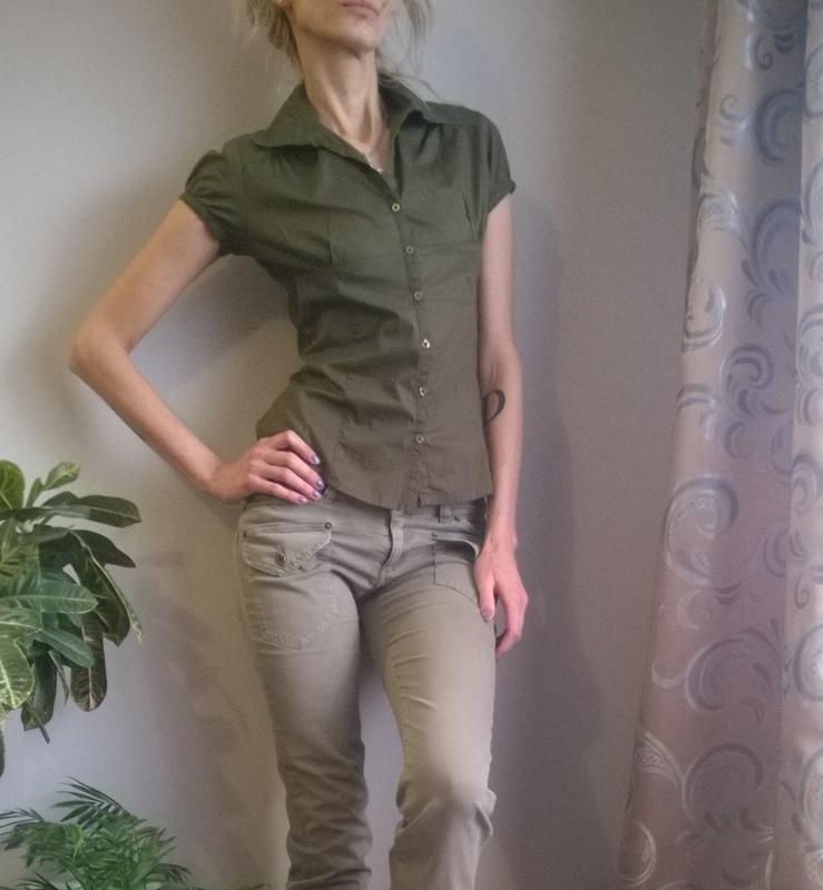 Блузка в стиле милитари купить