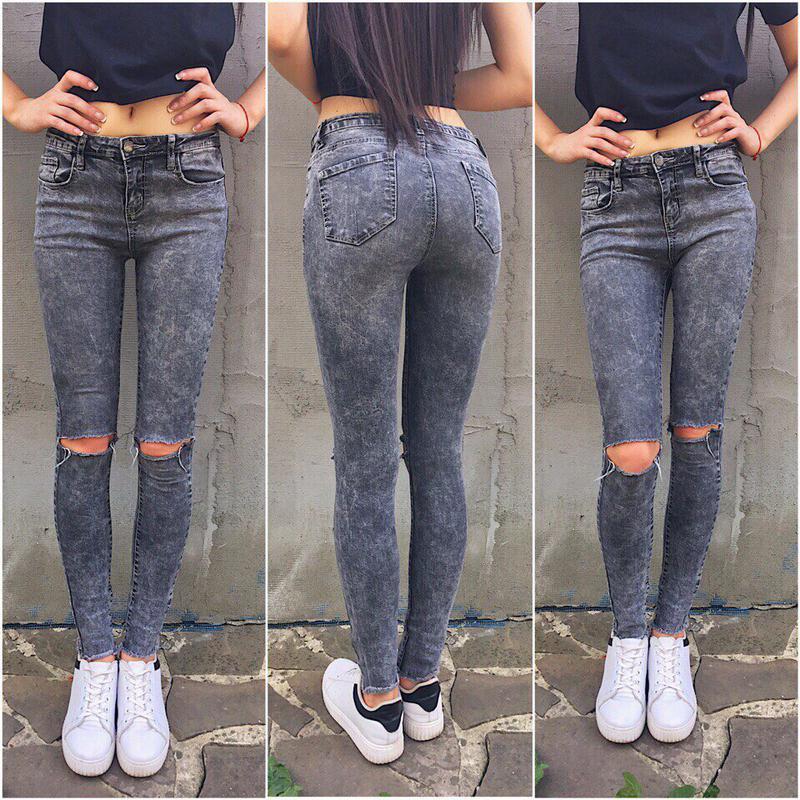 Как правильно сделать дырки на коленях джинсах 527