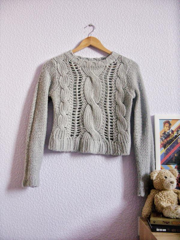 Вязание кроп свитера 97