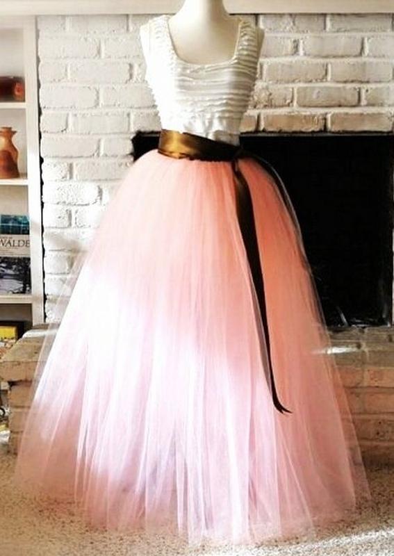 Длинное пышное платье своими руками