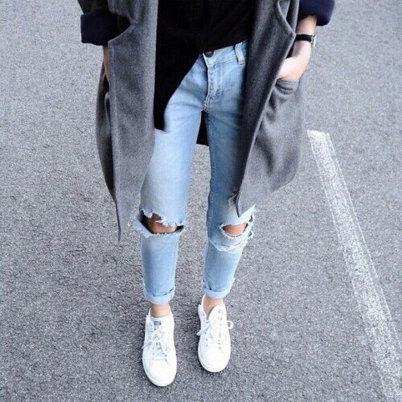 Как сделать рваные джинсы своими руками фото пошагово