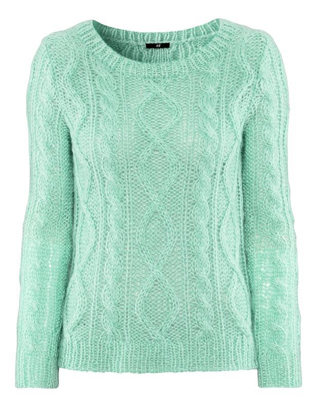 16139d15 Шикарный мятный свитер h&m; mohair blend (H&M;) за 229 грн.