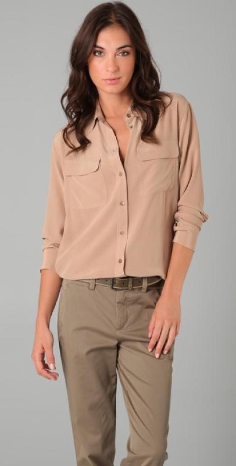 Бежевые блузки фото
