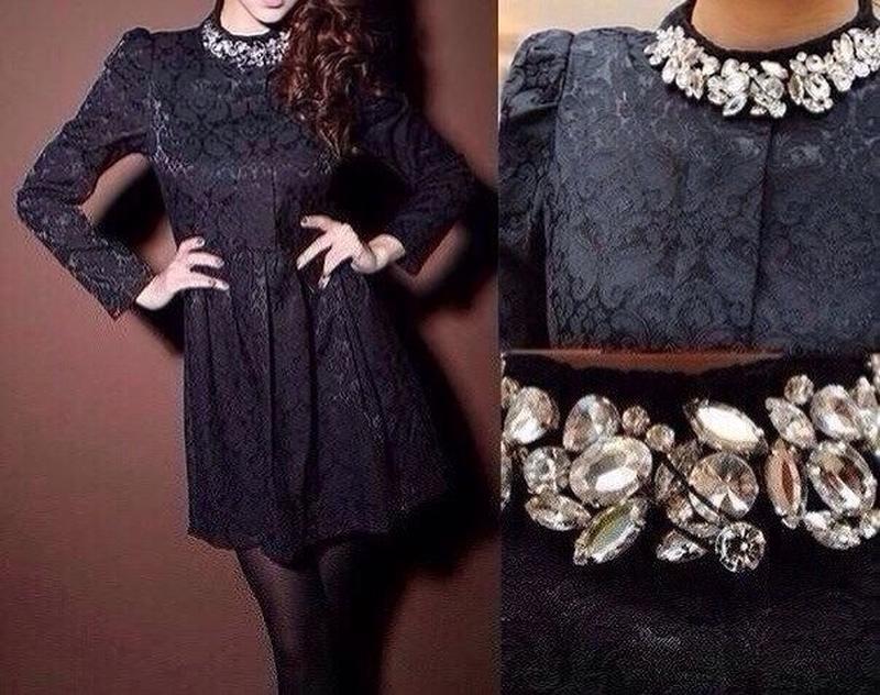 Платье с камнями своими руками