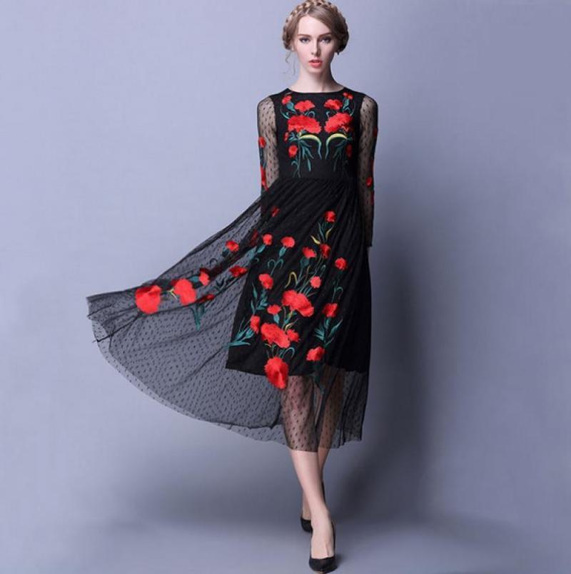 Вышивка на платье в ростове