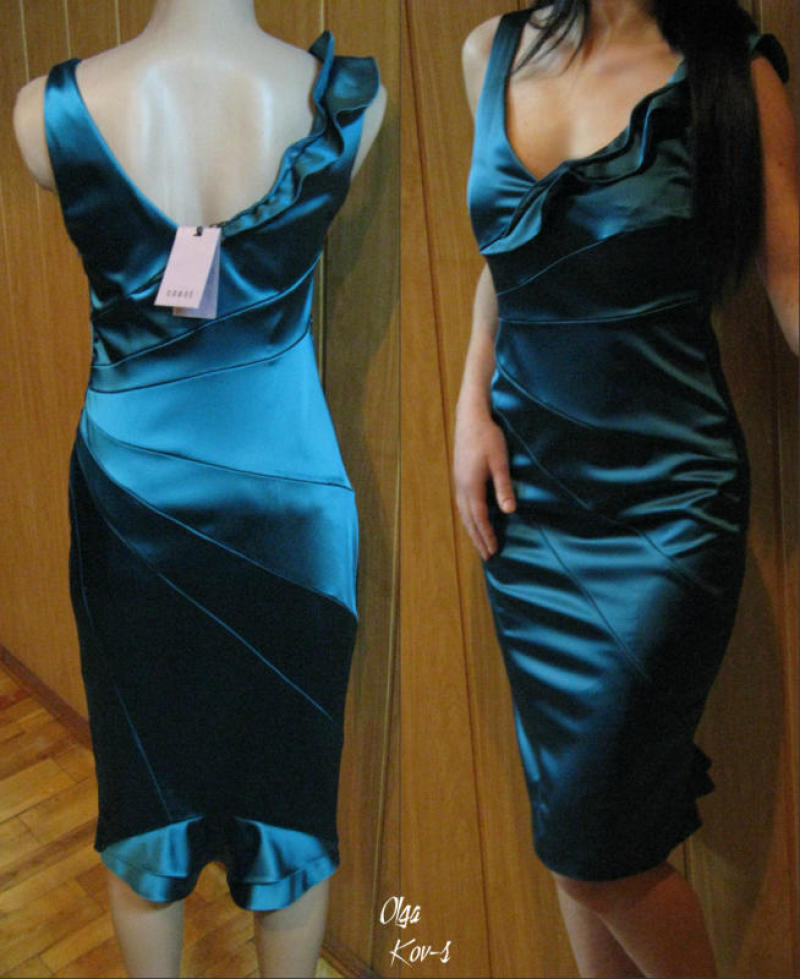 Платье из атласа сшить для начинающих