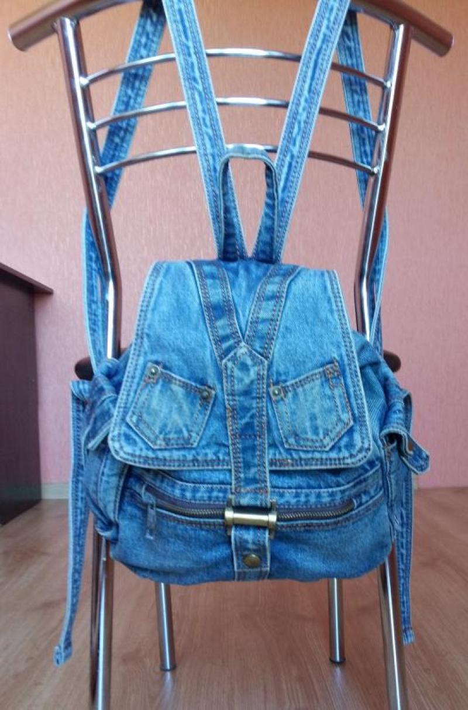 Джинсовые рюкзаки своими руками фото и выкройки из ткани 91