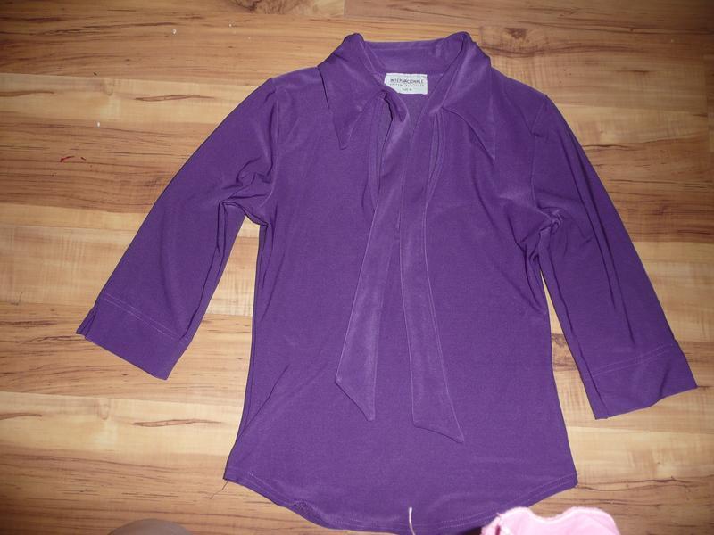 Блузка с воротником бантом купить