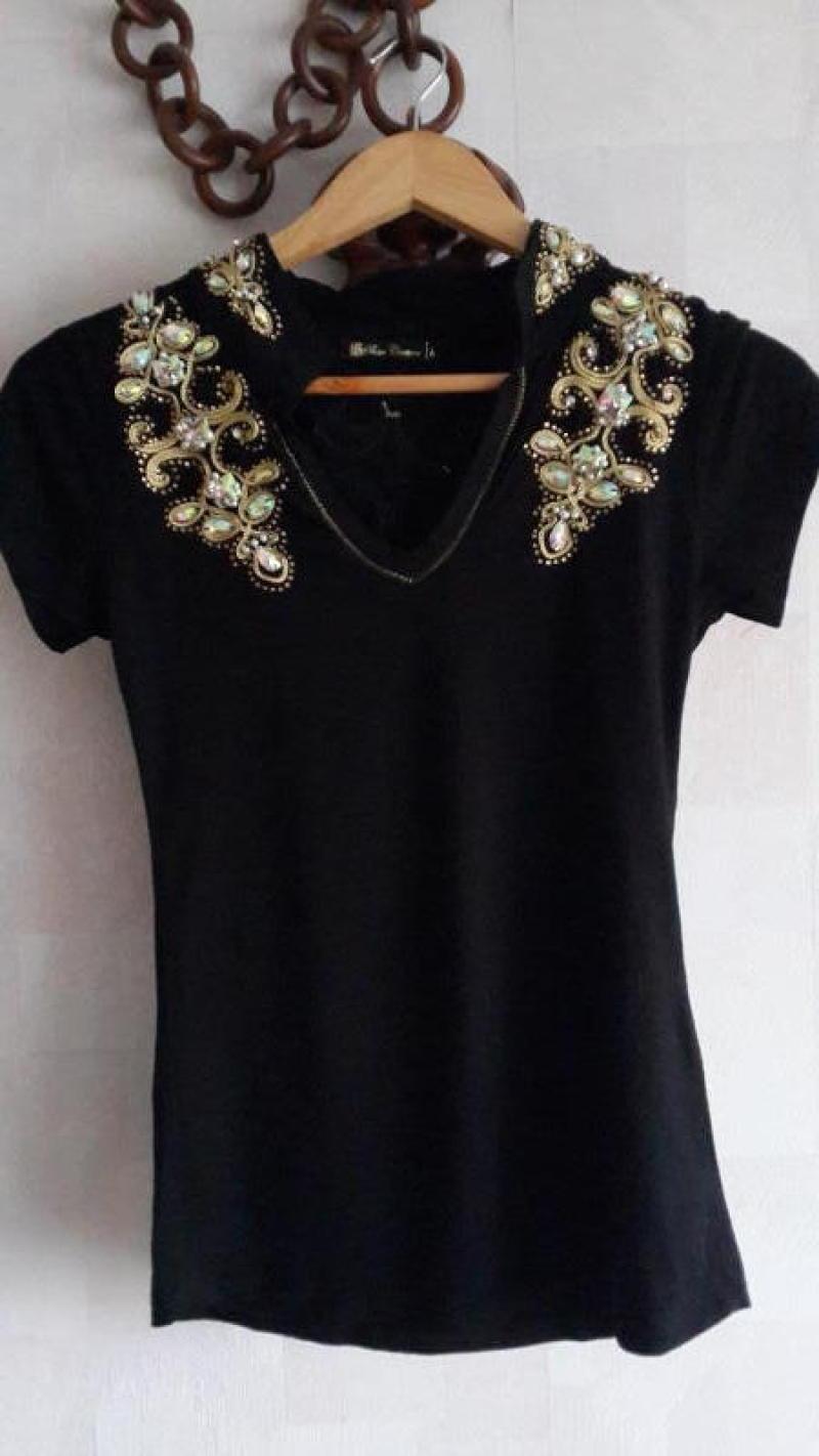 Как украсить платье черное 32