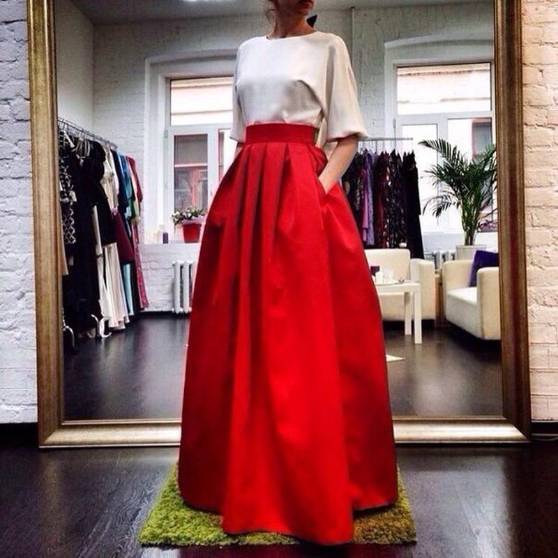 Длинные пышные юбки