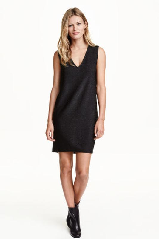 ea9e2d34394c384 Нарядное платье из джерси h&m, вечернее, маленькое черное платье свободного  кроя с глубоким декольте1 ...