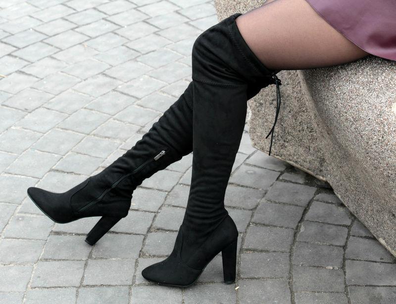 Сапоги женские ботфорты стюарт черные, цена - 800 грн,  2916077 ... 2589feb8e26