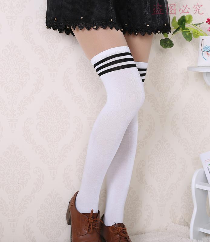 9fd704be3adf ◈ стильные и теплые гольфы / чулки (белые с черными полосами) за 145 грн.