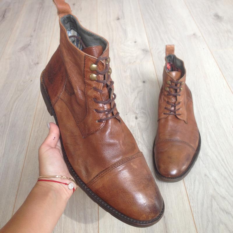 Ботинки кожаные тommy hilfiger (оригинал) р. 44: купить по доступной цене в Киеве и Украине | SHAFA.ua