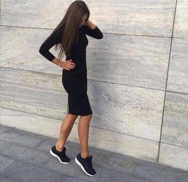 cf9ddc614b83fdd Черное трикотажное платье миди от bershka Bershka, цена - 650 грн ...