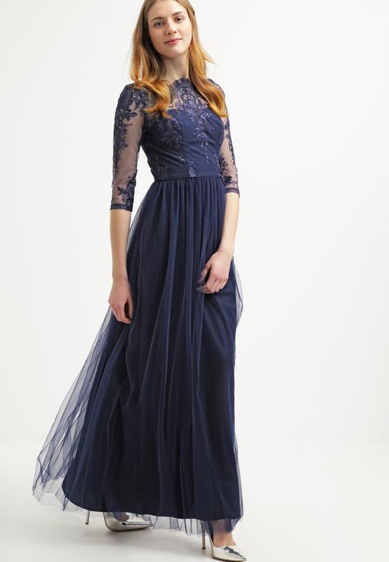 997dfe6ed47 Длинное вечернее платье в пол с кружевом и фатиновой юбкой.1 фото ...