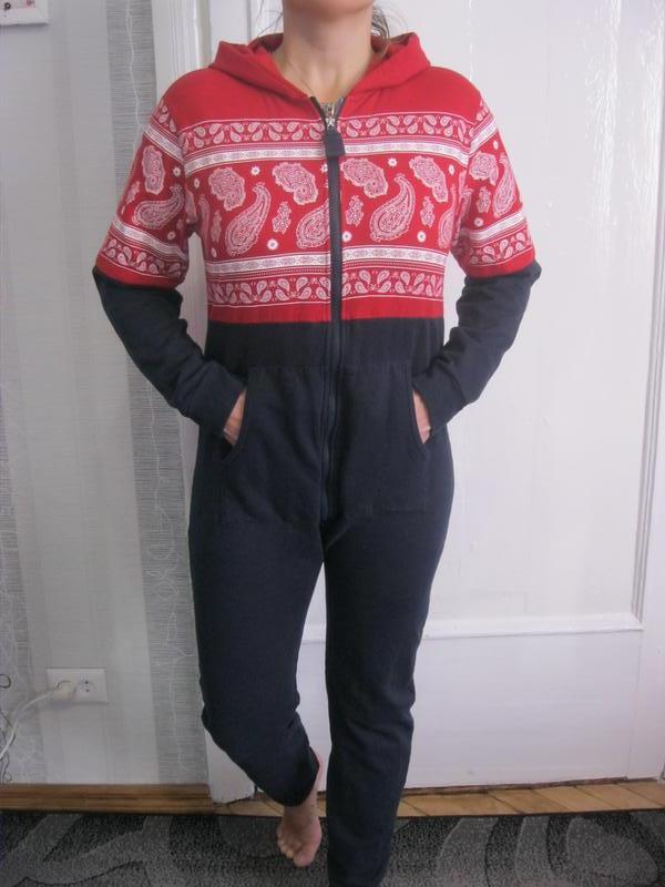 Теплая пижама кигуруми домашний костюм комбинезон м 44 Boohoo bc889fead6226