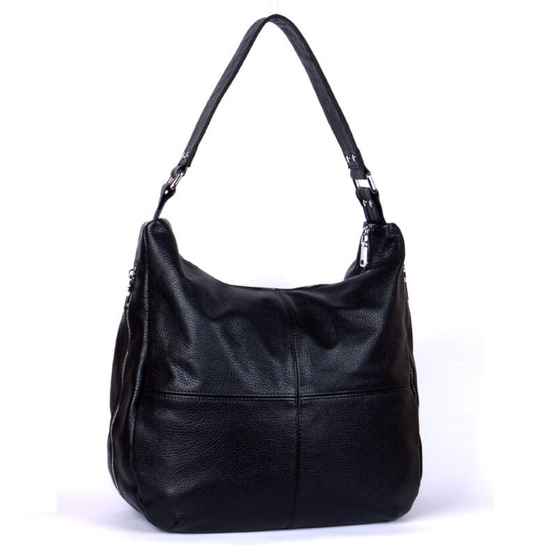 Кожаная черная женская сумка на плечо разные цвета, цена - 1450 грн, #26984620, купить по доступной цене   Украина - Шафа