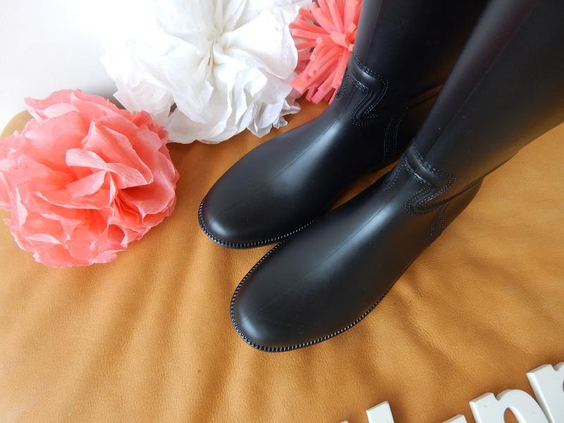 fc1852192 ... Резиновые сапоги, силиконовая обувь, черные матовые с замком молнией  сзади рр 36-414 ...