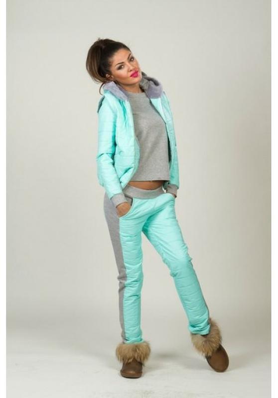 1ed47072 Теплый мятный спортивный костюм тройка, цена - 550 грн, #3066773 ...
