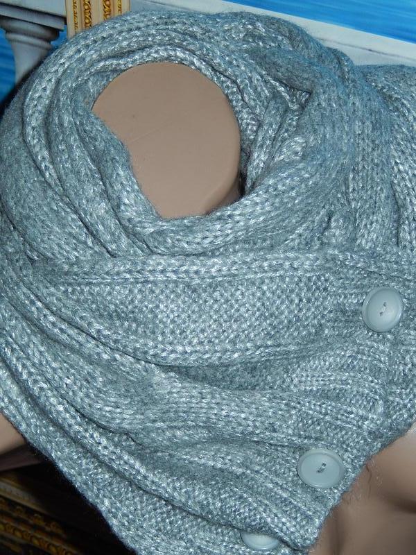 шикарный новый шарф снуд на пуговицахкачество супер Tcm Tchibo