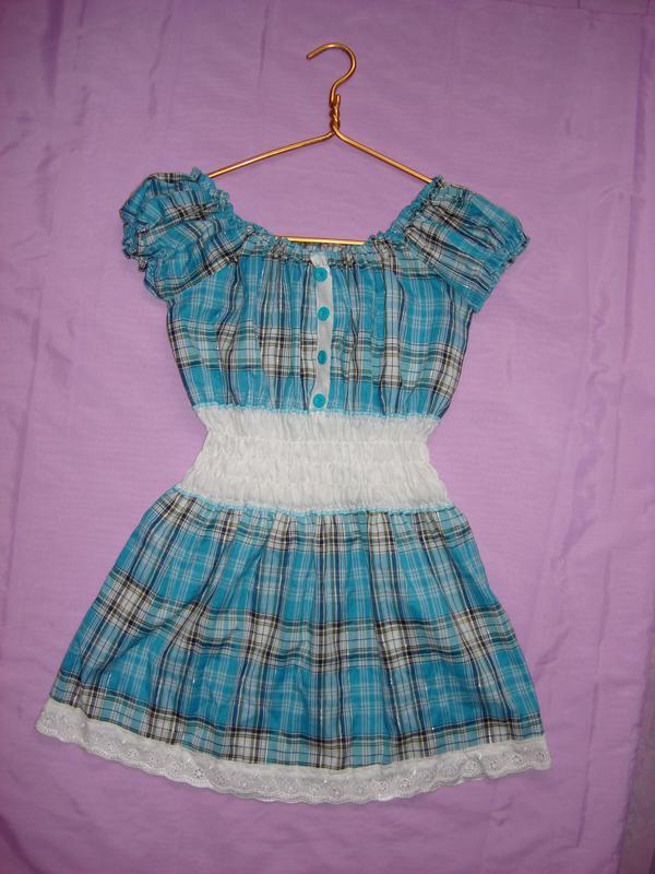 65140c164b3f Платье туника, летняя, клетка, хб, цена - 50 грн,  407878, купить по ...