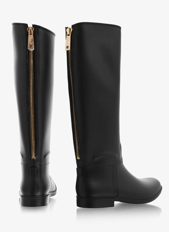 cc32d5c8c Резиновые сапоги, силиконовая обувь, черные матовые с замком молнией сзади  рр 36-411 ...