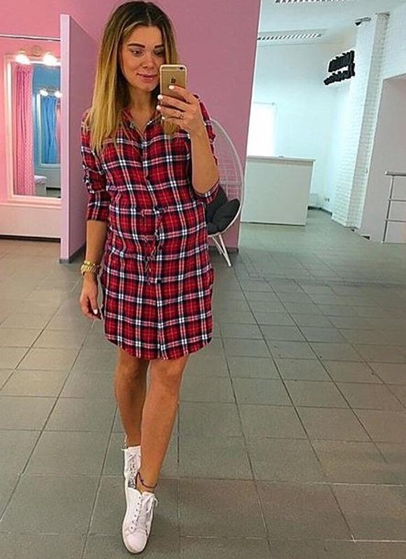 50f7878460a6 Акция распродажа новое платье рубашка туника в клетку красная чёрная белая1  ...