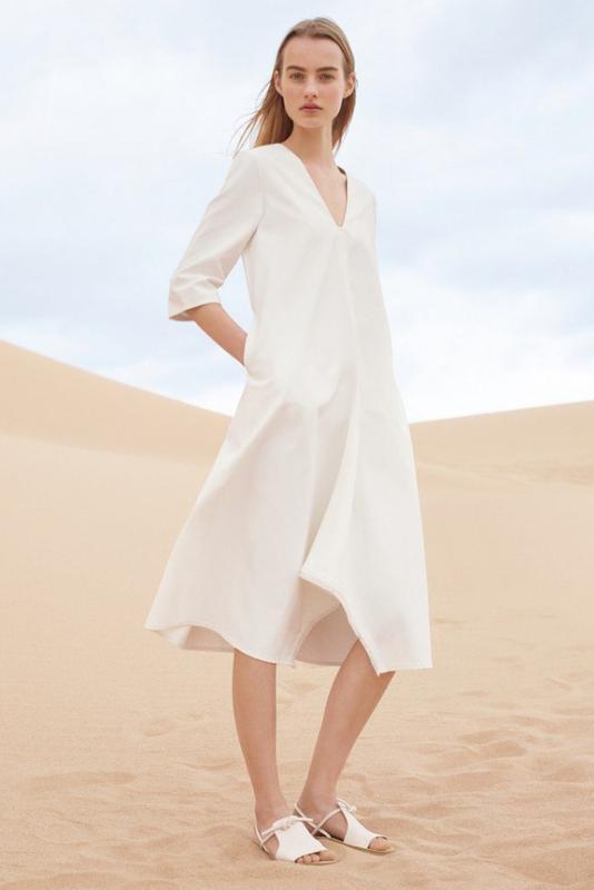 6c36fcdd234 Белое платье из плотного котона cos1 фото ...