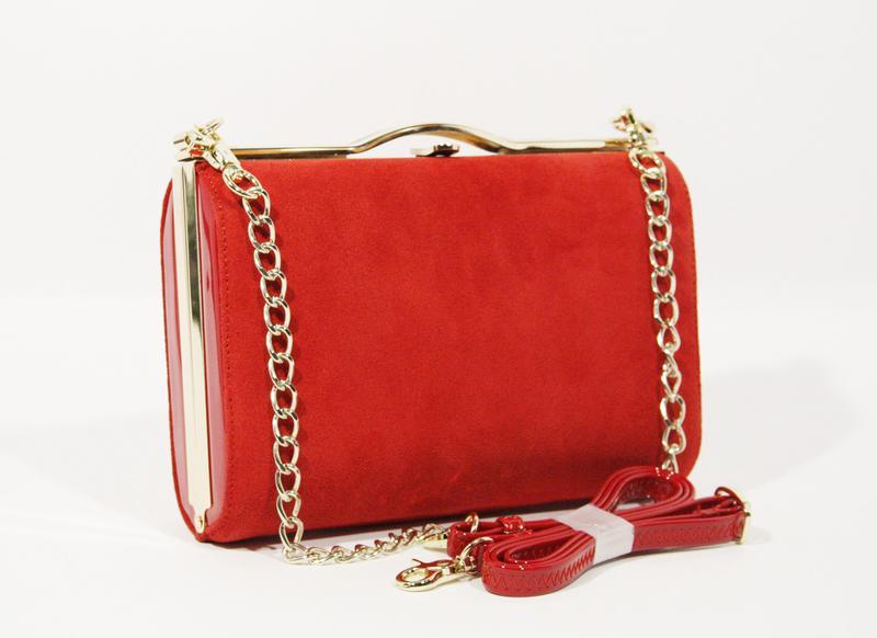 638e37acbd35 Замшевый клатч красный, сумочка shengkasilu 61873, цена - 962 грн ...