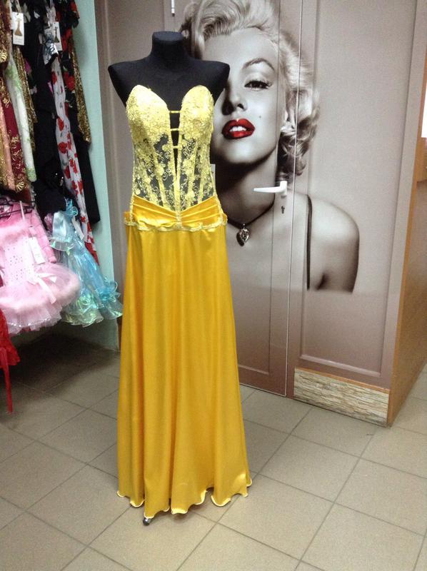 e03ba40b12b Желтое платье в пол1