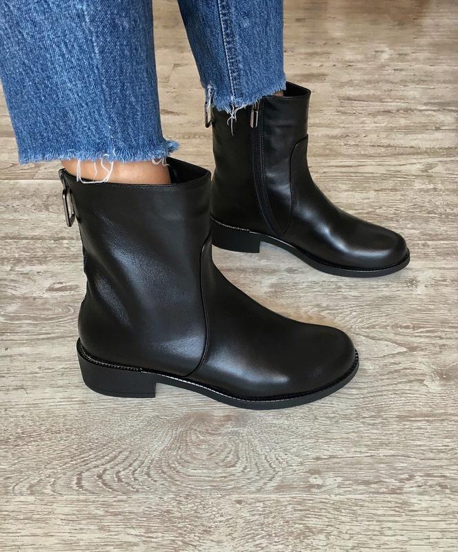 Демисезонные кожаные ботинки полусапожки, цена - 1430 грн, #28766828, купить по доступной цене | Украина - Шафа