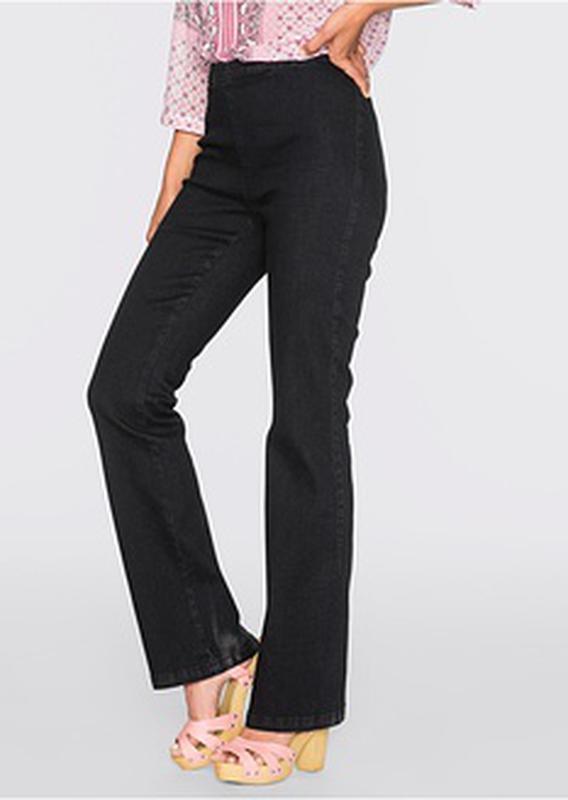 88f714cdba0 Высокие черные брюки буткат кежуал джинсы из стрейч ткани lexus италия1  фото ...