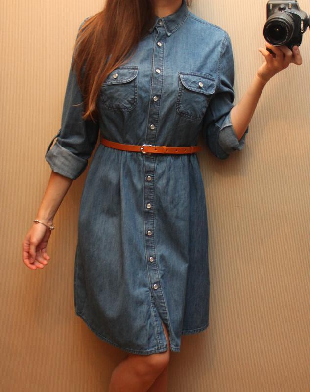 джинсовое платье рубашка купить 3