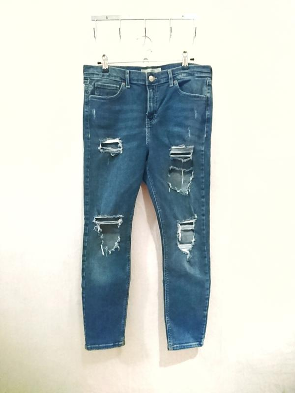 Трендовые рваные джинсы узкие скинни рванки ? бренд topshop Topshop, цена - 250 грн, #29182163, купить по доступной цене | Украина - Шафа