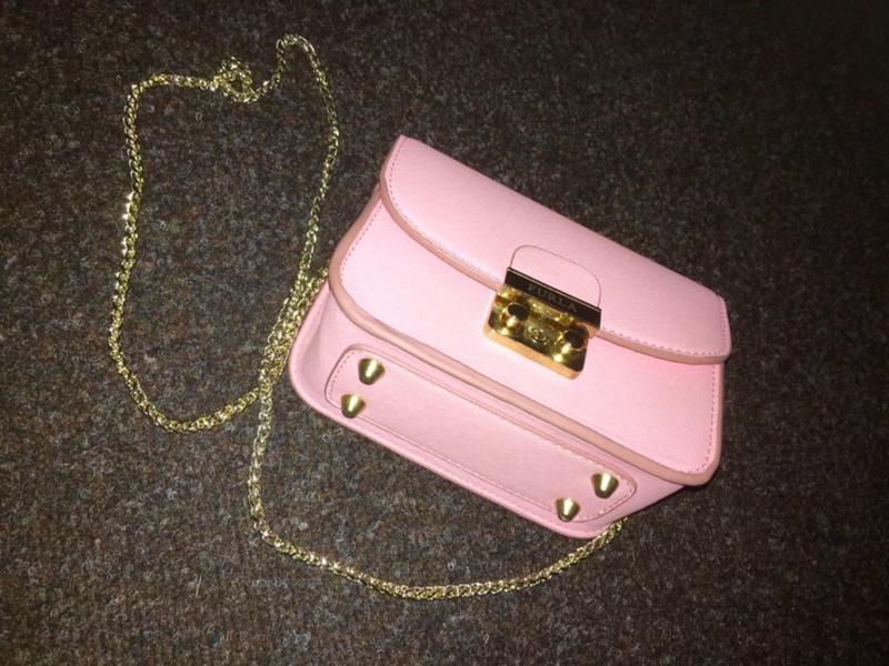 80dd321a3400 Сумка с цепочкой клатч furla metropolis pink Furla, цена - 650 грн ...