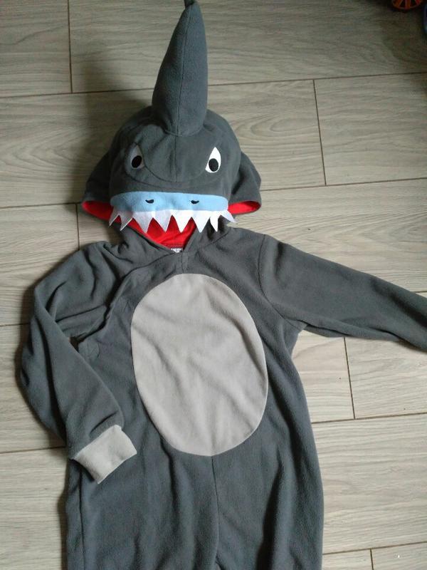 Флисовая пижама кигуруми акула 5 - 7 лет, цена - 199 грн, #29451132, купить по доступной цене | Украина - Шафа