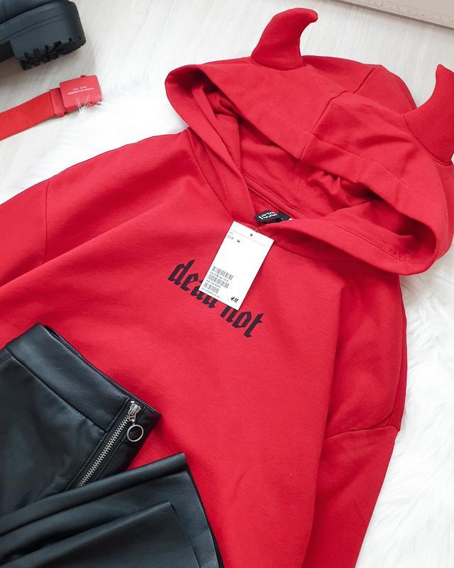 Худи красное с рожками H&M, цена - 575 грн, #29538980, купить по доступной цене | Украина - Шафа
