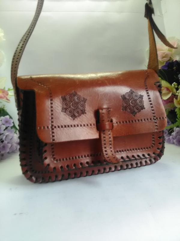 5b619174d9fa Эксклюзивная кожаная сумка ручной работы, натуральная седельная кожа1 фото  ...