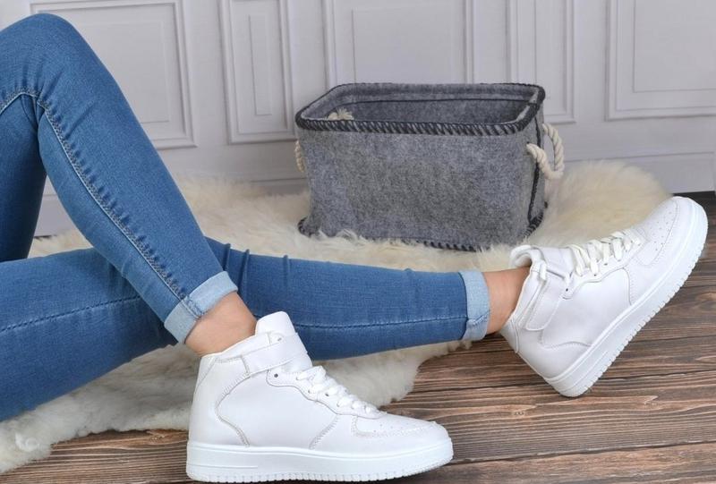 Білі жіночі кросівки з ліпучкою з польщі1 ... 879e0de65065e