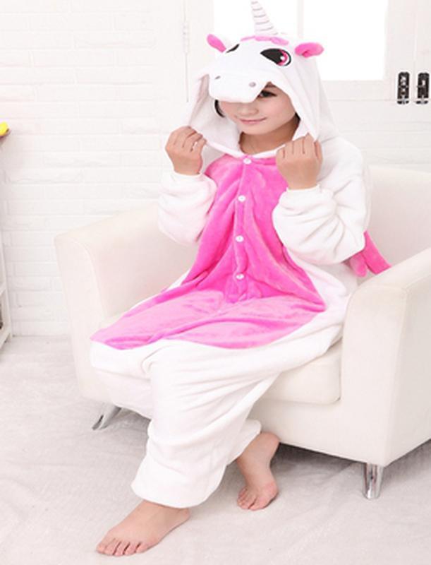 Кигуруми единорог с розовым kigurumi халат домашний костюм комбинезон  фланель1 ... c23ef9c54eb87