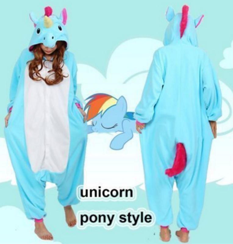 Пижама кигуруми kigurumi единорог голубой my little pony халат радуга деш1  ... 647113347f80a
