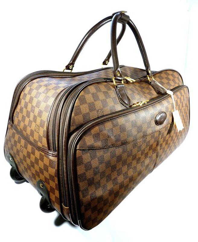 3ce430a3a464 Дорожная сумка на колесах louis vuitton средняя м , шашки,коричневая1 ...