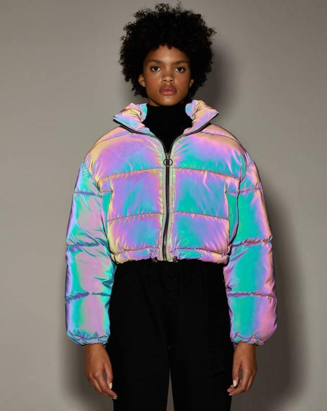 Светоотращающая куртка puffer bershka Bershka, цена - 2599 грн, #30261004, купить по доступной цене | Украина - Шафа