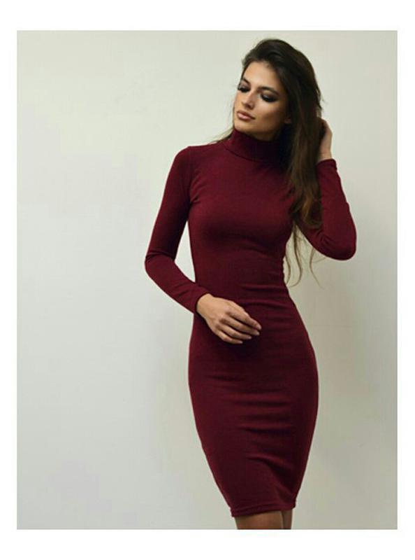 0170c5f7ebf Платье миди в рубчик цвет марсала 70% шерсть1 фото ...